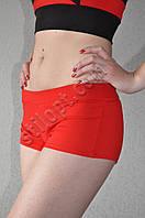 Короткие спортивные шортики красные