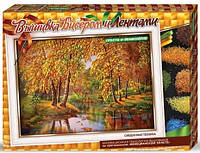 "Набор для творчества Danko Toys Вышивка бисером и лентами ""Осень"""