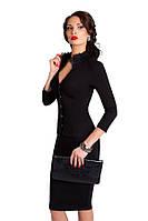 Эффектное платье-футляр с кружевным декором
