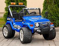 Детский электромобиль Jeep Raptot Drifter, 4kids,синий