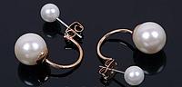 Стильные элегантные жемчужные серьги для женщин
