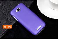 Чехол накладка бампер для Lenovo A706 фиолетовый