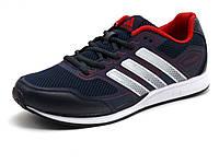 Кроссовки мужские летние Adidas Adizero, сетка/ кожа, темно-синие/ красные/ белые, фото 1