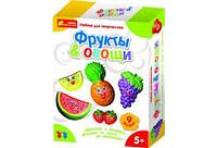 Гипс на магнитиках Фрукты/ овощи 4004 (15100096) Ранок Украина