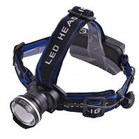 Led-фонарик на лоб police xq-24, 100% и 50% яркости, стробоскоп, питание 2*18650, зарядные устройства