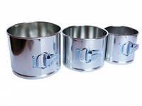 Форма для пасхи 3шт из белой стали (код 03916)