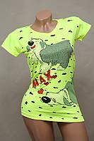 Турецкая брендовая футболка«PAKKOO» салатная