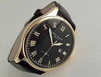 Мужские часы Patek Philippe - Geneve, корпус - золотистый, кварцевые