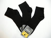 Короткие хлопковые носки для мужчин черный