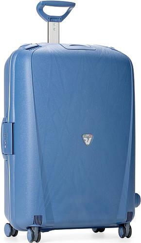 Легкий, дорожный чемодан из пластика 90 л., четырехколесный Roncato Light 500711/33 синий