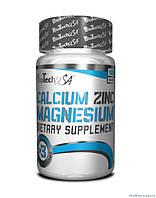 BioTech Calcium Zinc Magnesium 100 таблеток Витамины и минералы