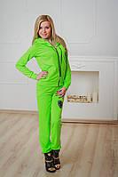 Спортивный костюм женский ferrari салатовый, фото 1