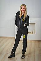 Спортивный костюм женский ferrari черный, фото 1