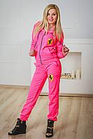 Спортивный костюм женский ferrari розовый, фото 1