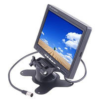 7 дюймов дисплей TFT цветной автомобильный универсальный жк монитор заднего вида с креплением 2 видеовхода