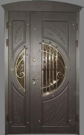 полуторная дверь входная белая со стеклом купить