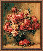 """Набор для вышивания """"Букет роз по мотивам картины Пьера Огюста Ренуара """""""