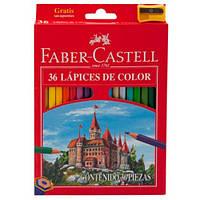 Карандаши FC (Faber-Castell) Замок и Рыцари + точилка 36 цветов
