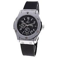 Часы женские наручные Hublot Geneve 3920L черные с серебром