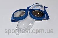Очки для плавания, анатомическая форма линз, литая оправа, материал оправы - силикон