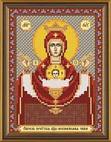 Схема для вышивки бисером Богородица Неупиваемая чаша БИС 5004
