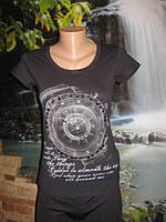 Женская футболка с часами