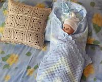 Плед вязаный для новорожденных  Hand Made