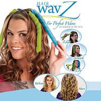 Бигуди для создания шикарных локонов hair wavz, 35/50 см, не вредят волосам, быстрая укладка, крючок, 16 шт.