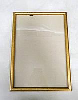Рамка А4 золотистая для фото и дипломов