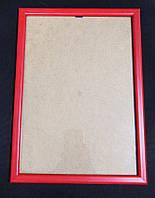 Рамка А4 красная для фото и дипломов