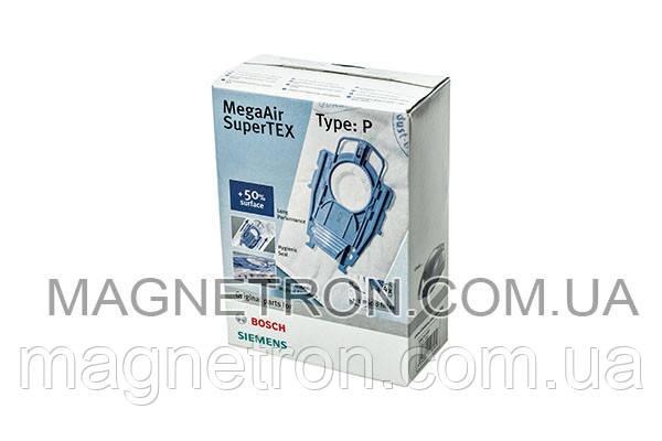 Мешки микроволокно Type P + фильтр для пылесоса Bosch, Siemens 468264, фото 2