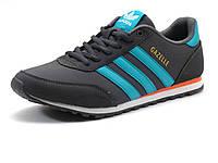 Кроссовки Adidas Gazelle Originals серые/ голубые/ белая подошва, фото 1