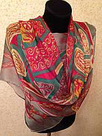 Новый 2015г.Красивый шелковый шарф 2611(цв 11)