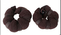 Пончики для гульки, набор из 2-ух штук разного размера - большой и малый, цвет - коричневый