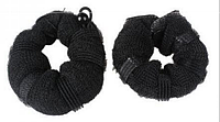 Пончики для гульки, набор из 2-ух штук разного размера - большой и малый, цвет - черный