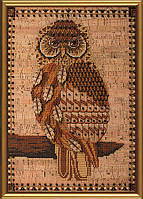 """Набор для вышивки крестом на пробковой ткани """"Ночная птица"""" КР 4004"""