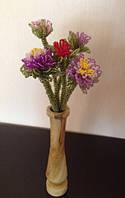 Букет астр для любимой из бисера , подарок девушке (женщине) на день рождение
