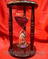 Часы песочные в дереве