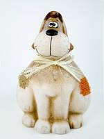 Статуэтка керамическая  в форме собаки