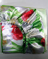 Простынь на резинке 180х200 Весенние Тюльпаны