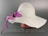 Шляпа женская белая с цветком