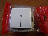 Выключатель одинарный проходной с подсветкой без рамки El-Bi ZENA белый