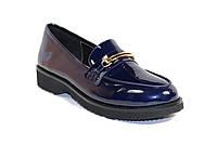 Женские туфли лаковые синие
