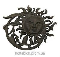 Панно Солнце чугунное литье