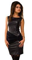 Платье  женское кожа+ шифон, фото 1