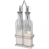 702 Набор 2 бутылки на  металлической  ст  для масла по 0,25 мл Классик
