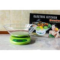 Весы для кухни, электронные, с пластиковой чашей, максимальный вес 7 кг, граммы / унции, точность 1 г, 2*аа