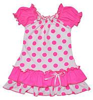 Нарядное платье в горошек на девочку