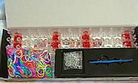 Набор для плетения браслетов Rainbow loom 600 шт + станок