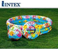 Детский надувной бассейн Intex + мяч + круг